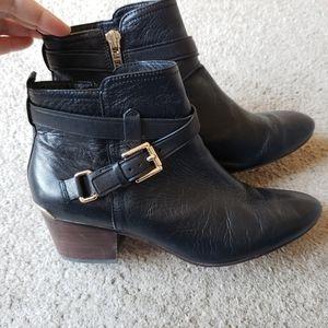 Coach Black Leather Pauline Booties Size 9